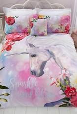 Sparkle Unicorn Glitter Dekbedovertrek