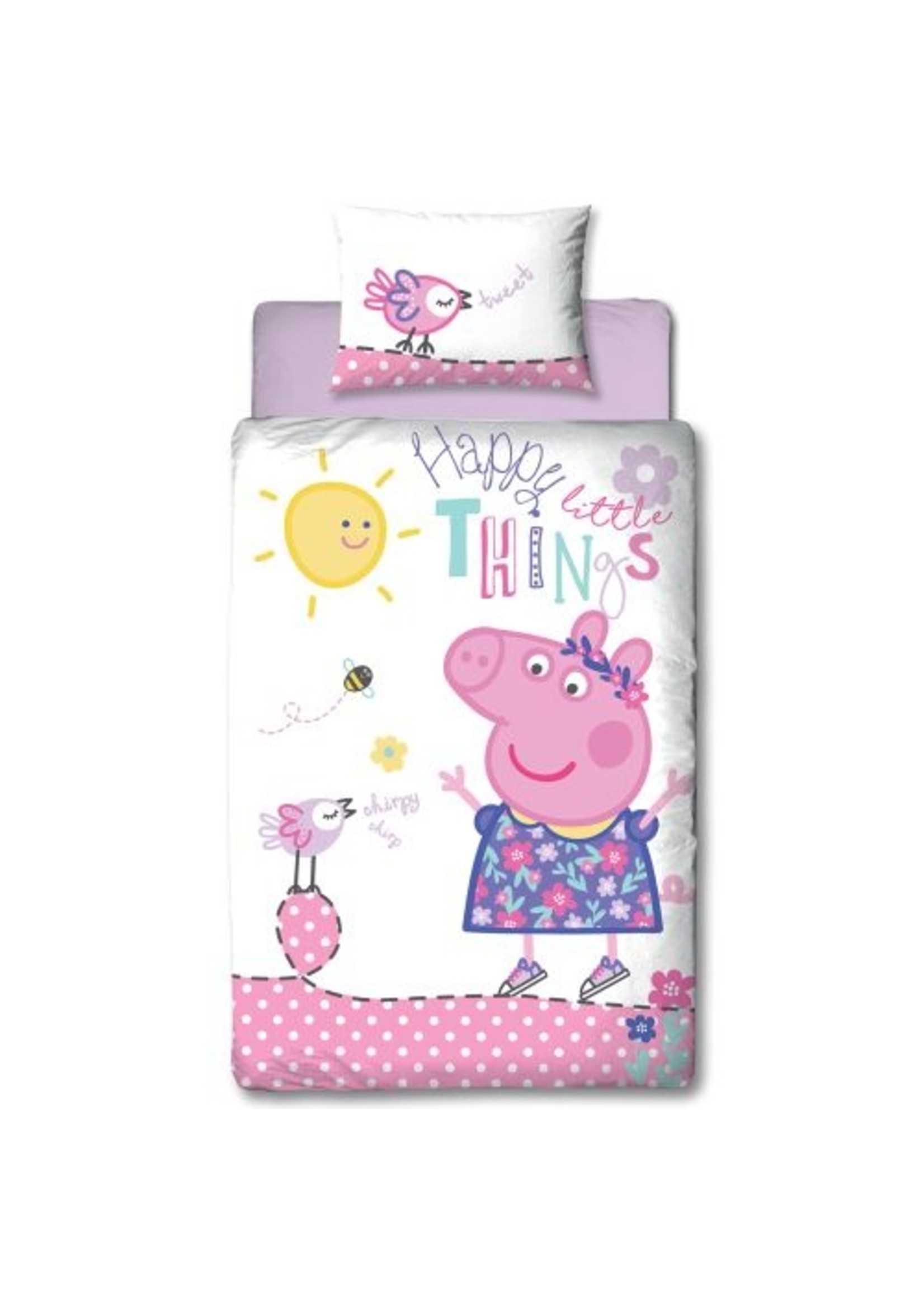 Peppa Pig Peppa Pig Happy Dekbedovertrek