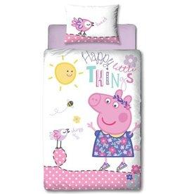 Peppa Pig Happy Dekbedovertrek
