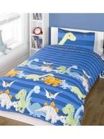 Homespace Dinosaurus Junior Dekbedovertrek Blauw