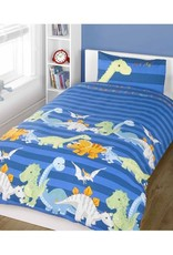 Homespace Dinosaurus Junior Dekbedovertrek Blauw