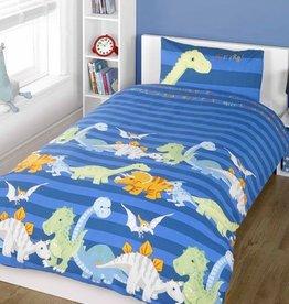 Dinosaurus Junior Dekbedovertrek Blauw