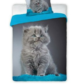 CharactersMania Kat Poes Duvet Cover Set Grey