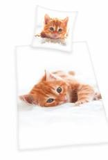 Katten Dekbedovertrek Poezen in Mand