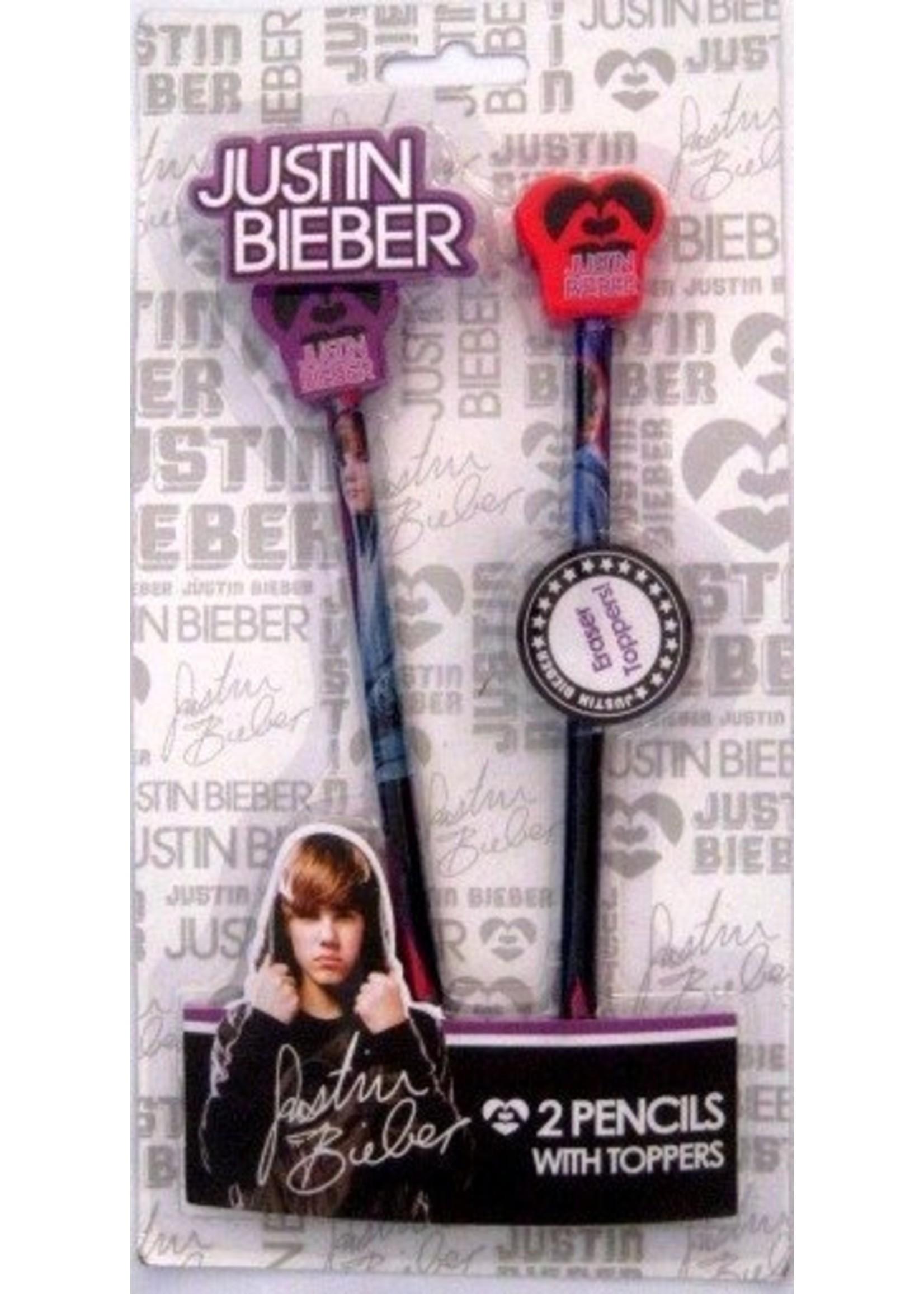 Justin Bieber Potlood Topjes JB10014