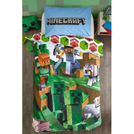 Minecraft Minecraft Dekbedovertrek Battle