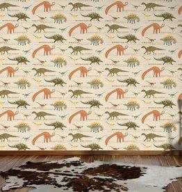 Dinosaur Wallpaper Natural And Green AS Creation 93633-10
