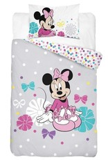 Disney Minnie Mouse  Junior Dekbedovertrek Grijs