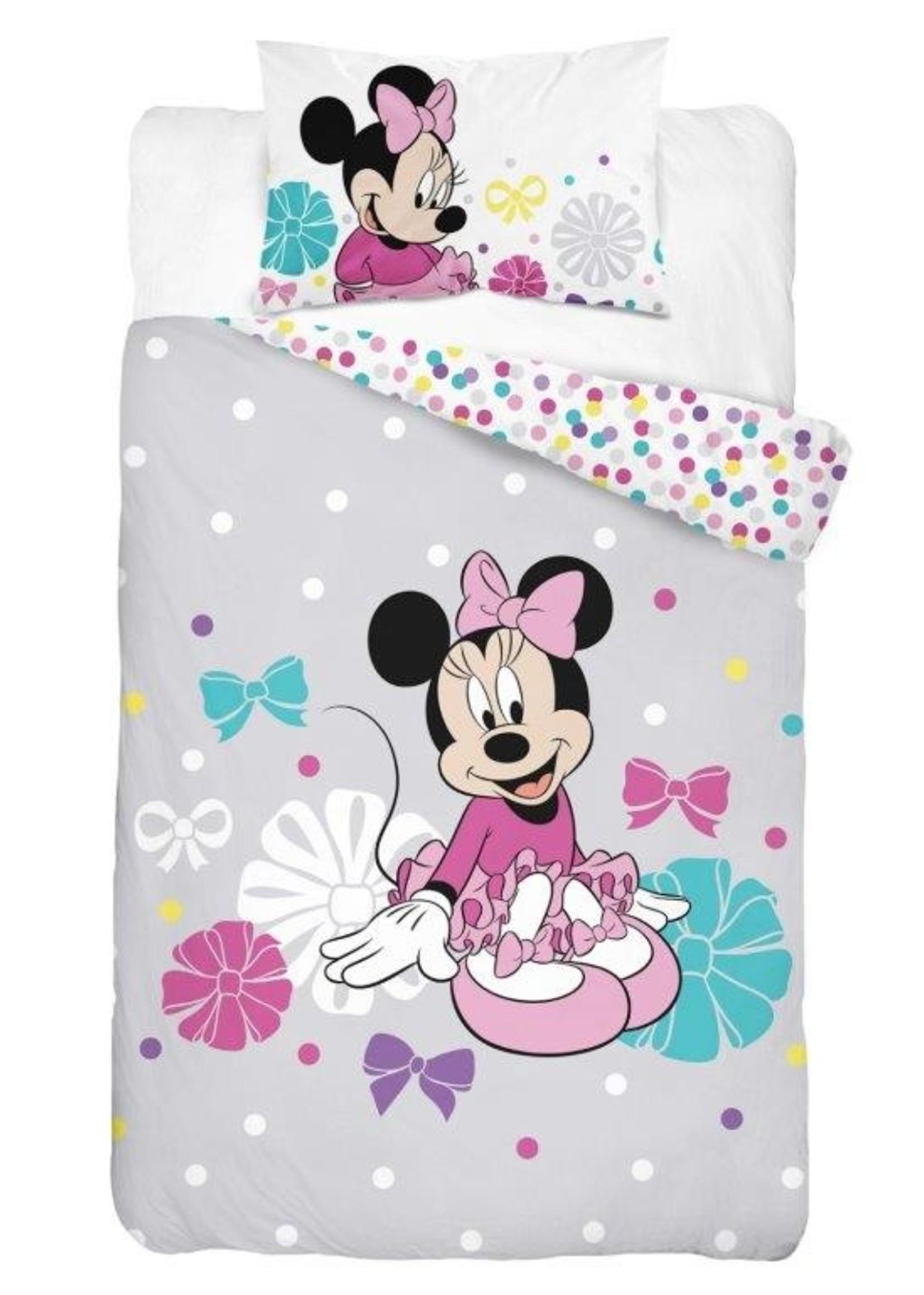 Disney Minnie Mouse  Junior Dekbedovertrek Grijs
