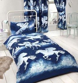 CharactersMania Unicorn Duvet Cover Set Blue