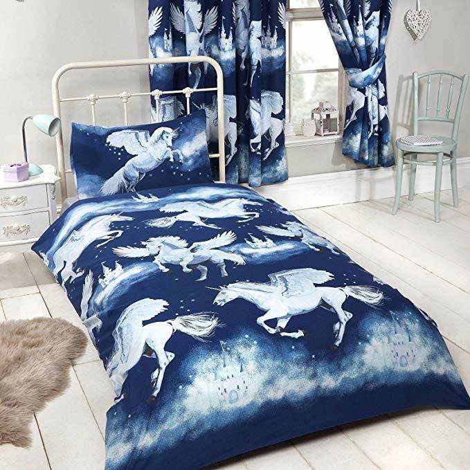 CharactersMania Unicorn Dekbedovertrek Stardust Blauw