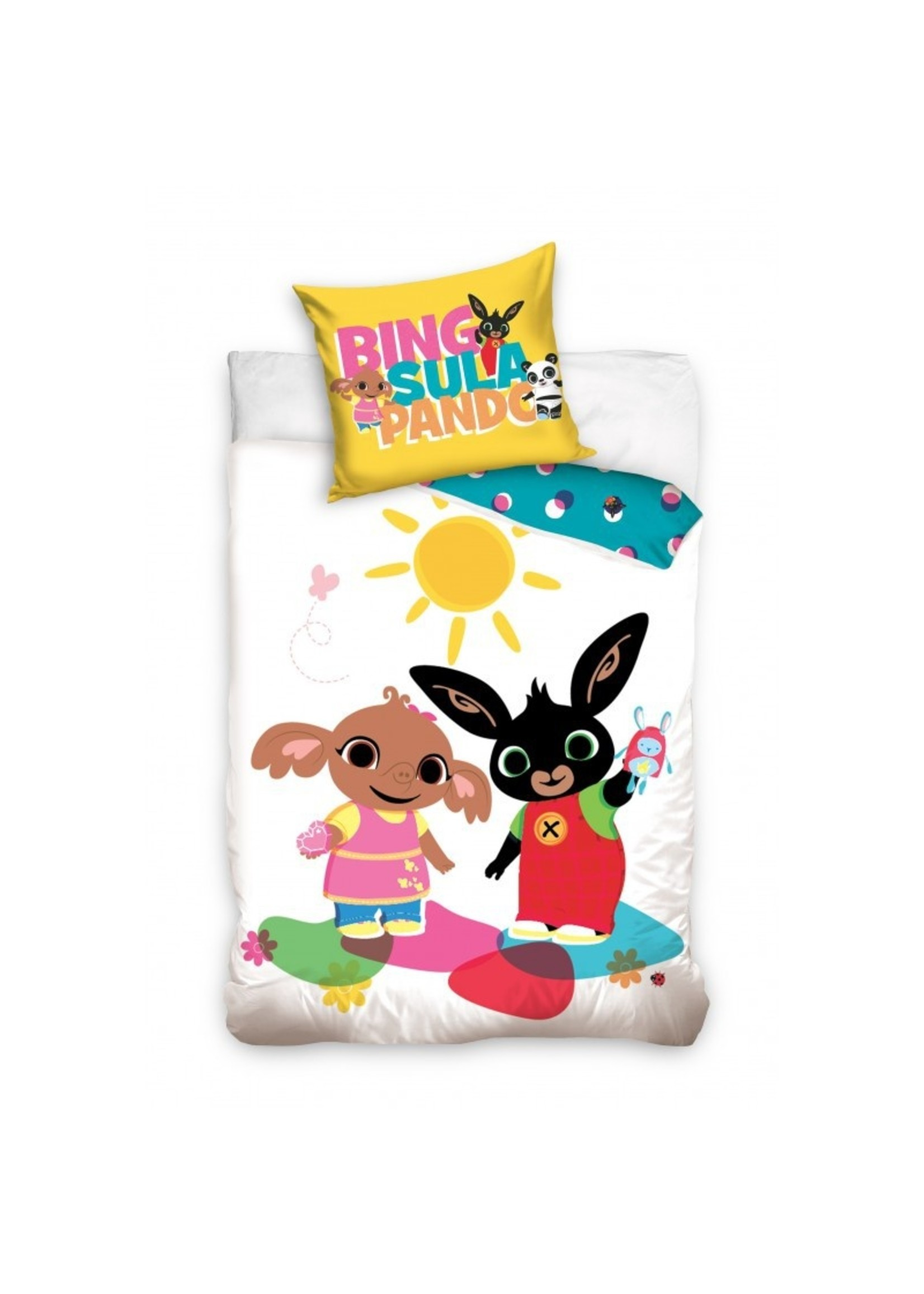 Bing Bunny Junior Dekbedovertrek Wit