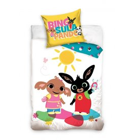 Bing Bunny Bing Bunny Junior Dekbedovertrek Wit
