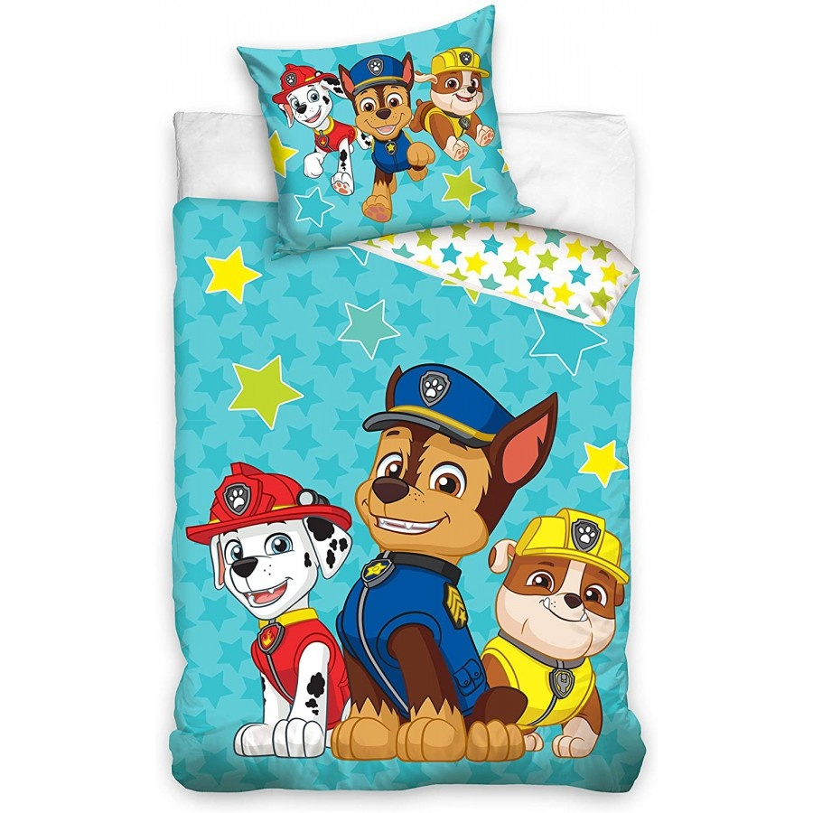 Nickelodeon Paw Patrol  Paw Patrol Junior Dekbedovertrek Chase Marshall Rubble