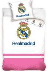 Real Madrid Real Madrid Junior Dekbedovertrek Logo Wit/Roze