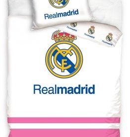 Real Madrid Real Madrid Junior Duvet Cover Logo White/Pink