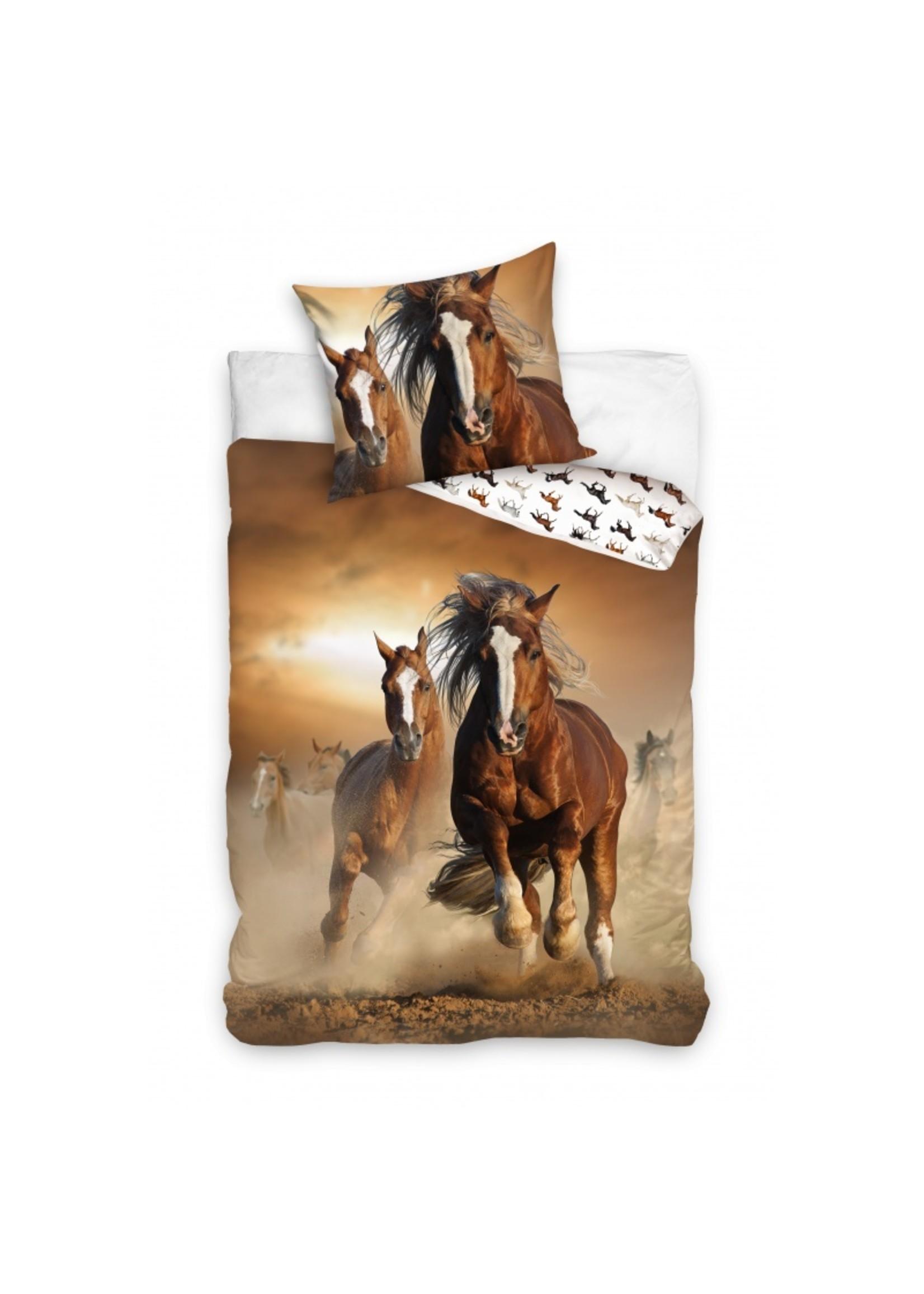 Paarden Dekbedovertrek Bruin