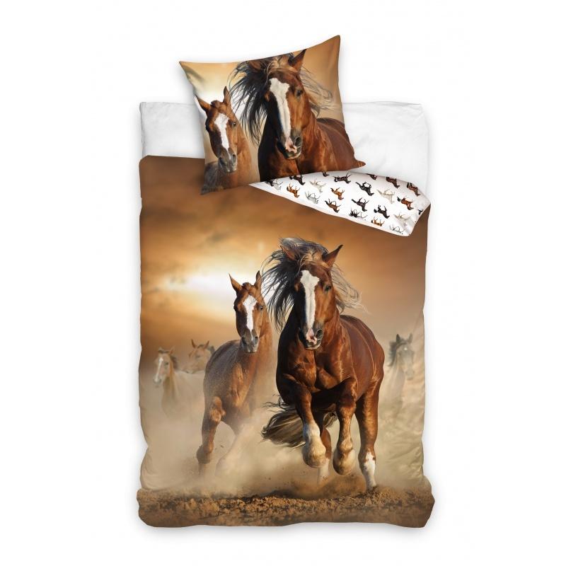 Carbotex Paarden Dekbedovertrek Bruin