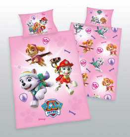 Nickelodeon Paw Patrol  Paw Patrol Junior Duvet Cover Set Pink Chase Rubble Marshall