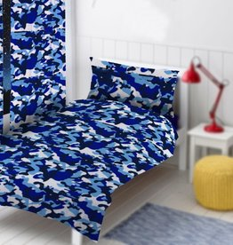 CharactersMania Camouflage Tweepersoons Dekbedovertrek Blauw