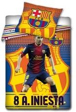 Barcelona Dekbedovertrek 140x200 Katoen Iniesta FCB02017