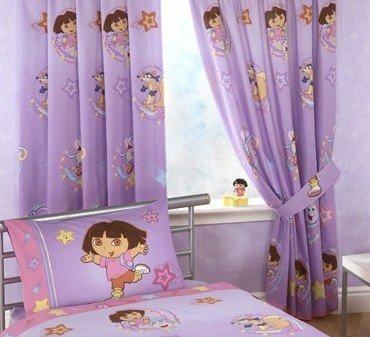 Nickelodeon Dora Gordijnset Paars
