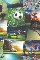 Fine Decor football Collage Wallpaper