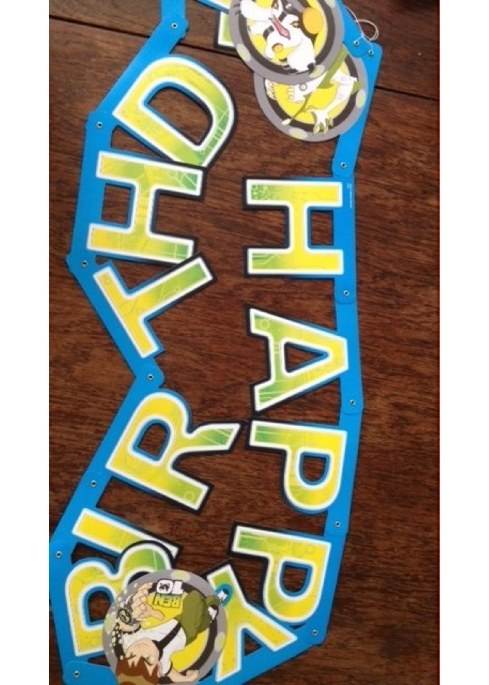Ben 10 Banner Happy Birthday BT02057