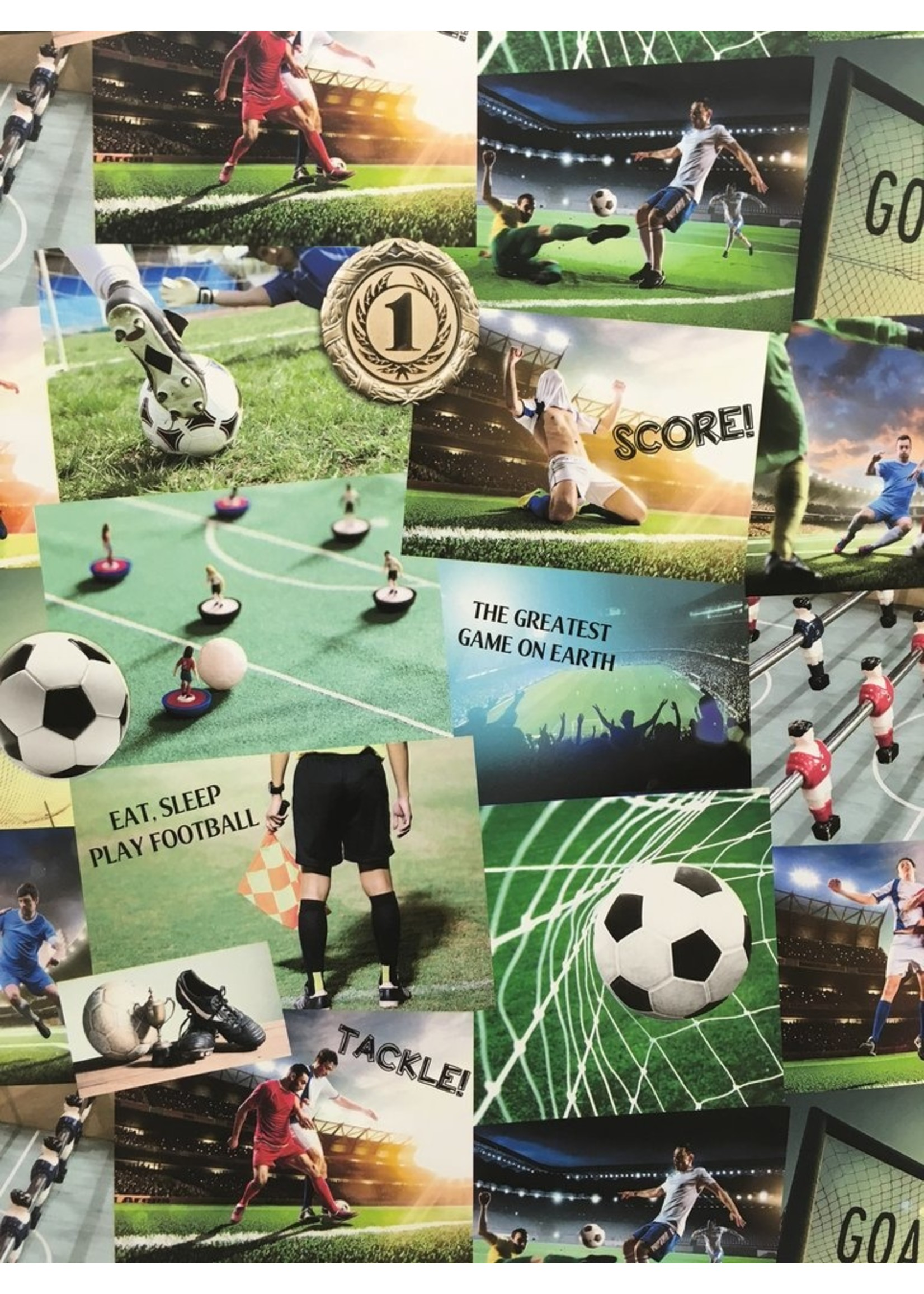 Voetbal Collage Behang