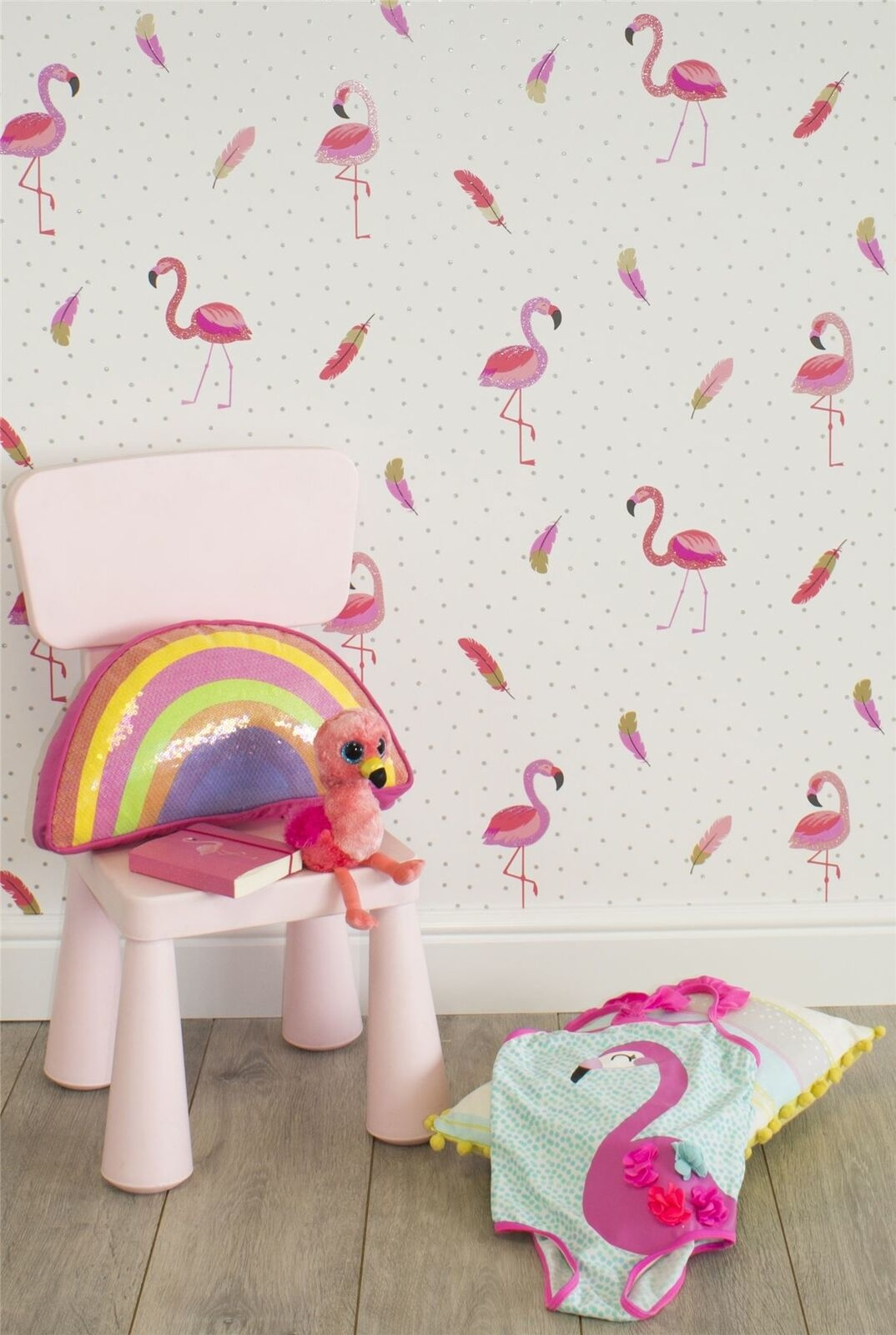 CharactersMania Flamingo Behang Be Dazzled