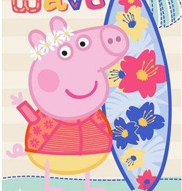 Peppa Pig Badlaken Handdoek Wave Surf