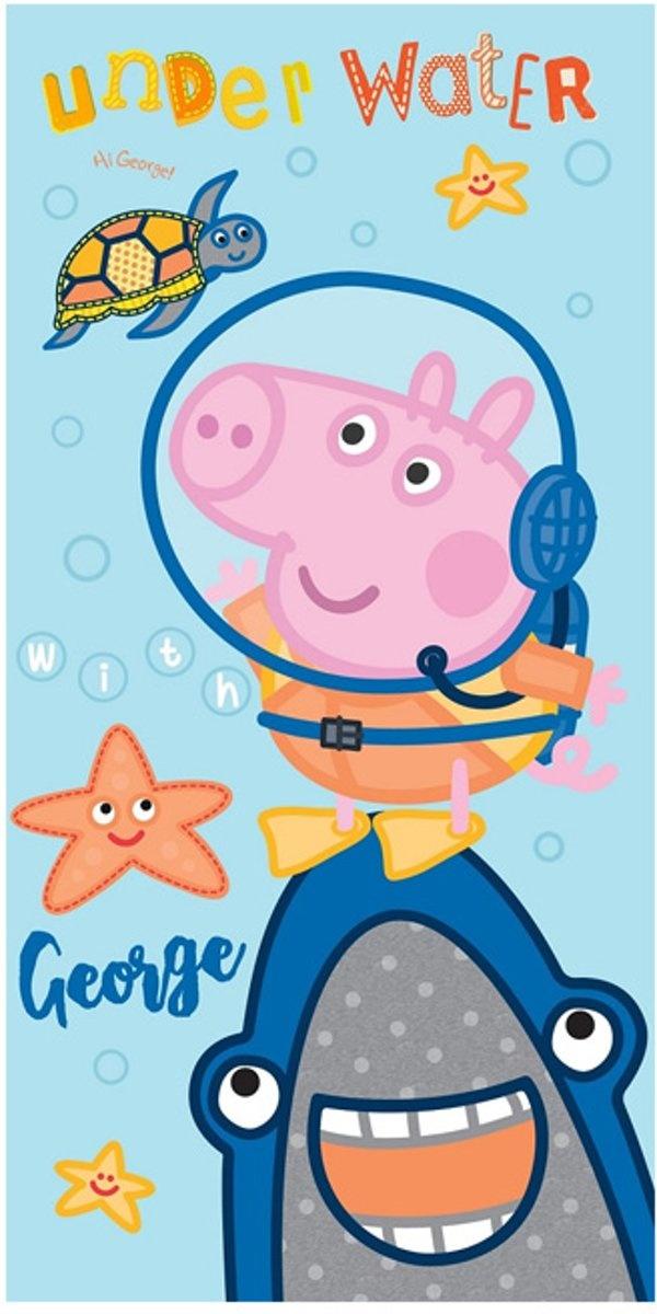 Peppa Pig Badlaken Handdoek Underwater