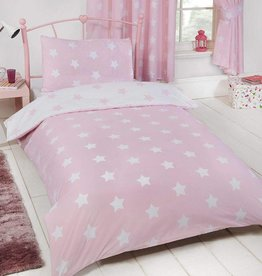 CharactersMania Sterren Duvet Cover Pink/White