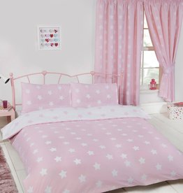 CharactersMania Sterren Duvet Cover Pink/White - Copy