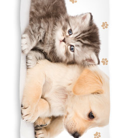 CharactersMania Puppy & Kitty Bath Towel