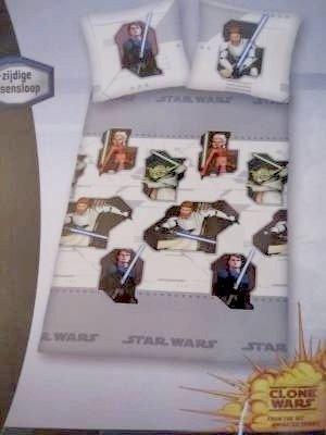 Star Wars Dekbedovertrek Katoen 140x200 Clone Wars SW19022