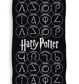 Warner Bros Harry Potter Handdoek Zwart