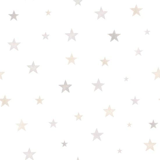 Little Ones Stars beige Behang Ster