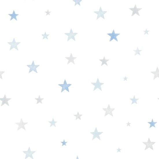 Little Ones Stars blauw/grijs Wallpapier