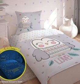 CharactersMania Uil LOVE Duvet cover set Glow in the Dark
