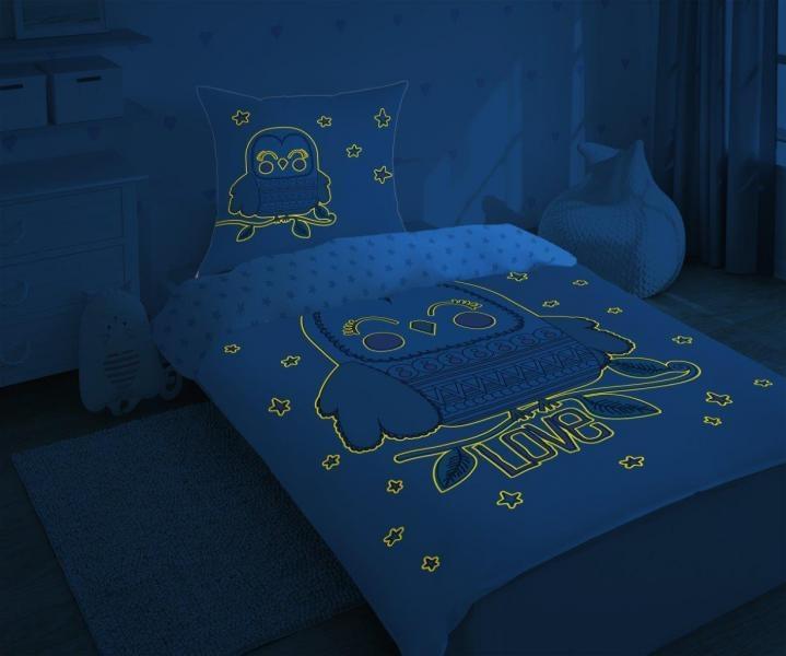 CharactersMania Uil LOVE dekbedovertrek Glow in the Dark