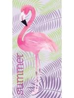 Flamingo Hand Towel  Tropical Island
