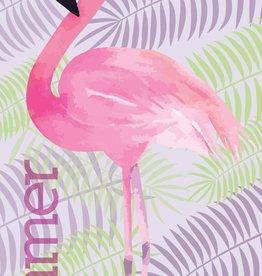 CharactersMania Flamingo Handdoek Tropical Island