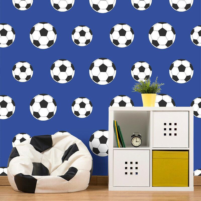 CharactersMania Voetbal Behang Blauw