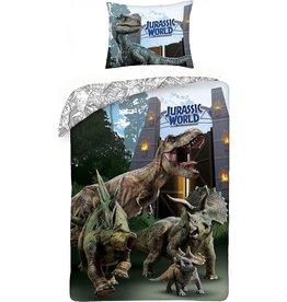 CharactersMania Jurassic World Duvet Cover Set Dinosaur Volcano