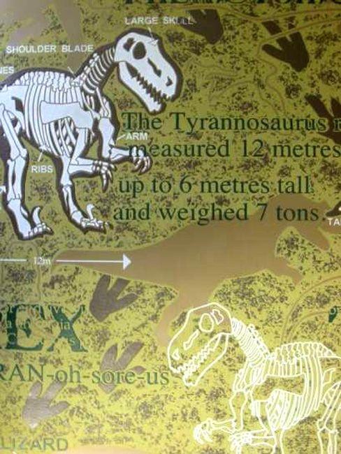 CharactersMania Dinosaur Glow in the Dark Wallpaper