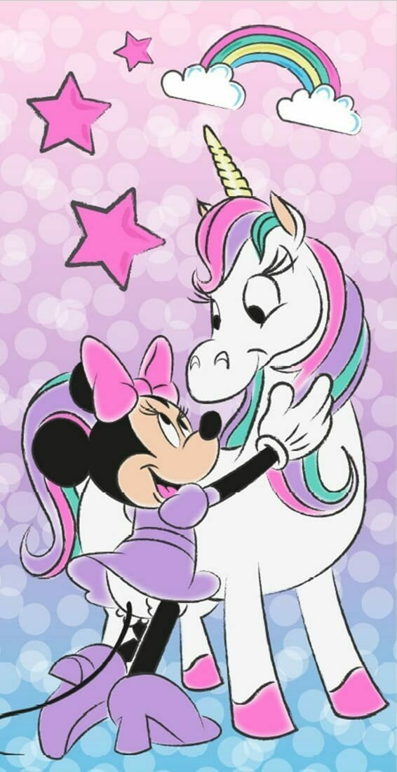 Disney Minnie Mouse Handdoek Unicorn