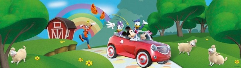 Disney Mickey Mouse Behangrand Clubhouse MM13080