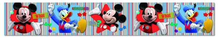 Disney Mickey Mouse Behangrand Donald Duck