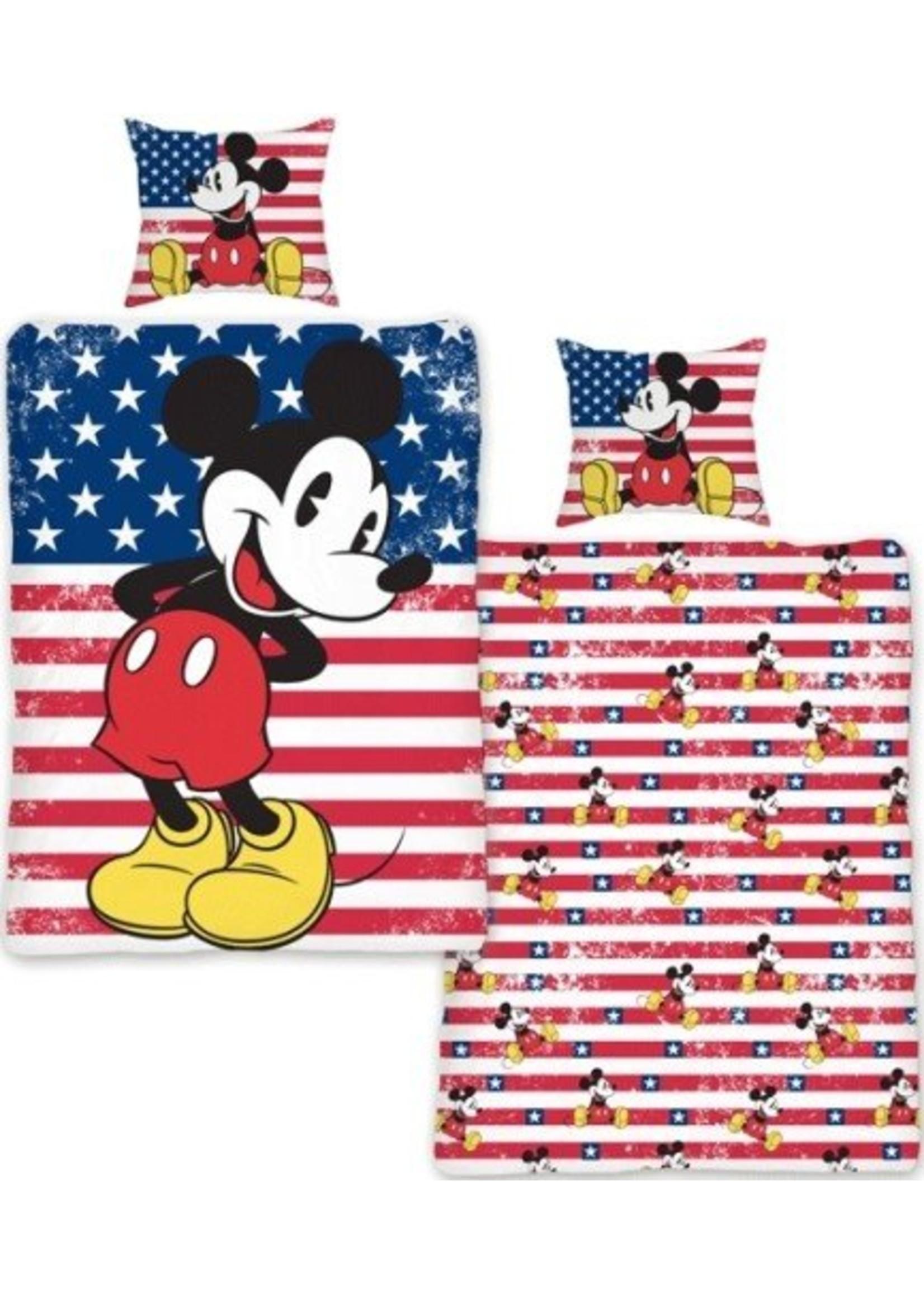 Mickey Mouse Dekbedovertrek 140x200 Katoen MM13082-USA
